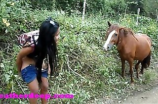 Heather Deep wheeling on scary fast quad and Peeing next to horses in the jungle youtube version