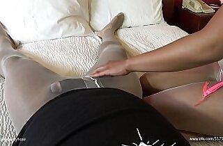 Pantyhose on Pantyhose Cock Teasing