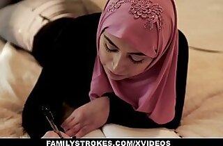 FamilyStrokes Pakistani Wife Rides Cock In Hijab