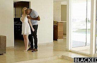 BLACKED Blonde Babysitter Trillium Fucks Black Boss