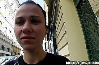Natural Czech girl paid cash to take huge mamba black cock