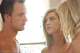 Nubile Films Hayden Hawkens loans her mans cock to her cute girlfriend