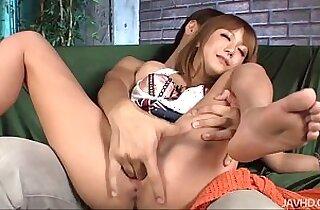 Kokoa shaved pussy filled up with hot man goo