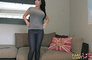 FakeAgentUK Huge tits young porn wannabe goes all the way in casting