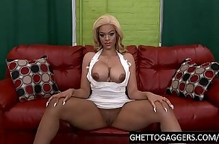 Black giantess strapped and throated