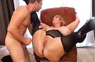 Huge Tit MILF BBW Samantha Fucks Stud Model