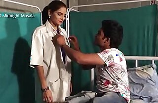 Hindi Lady doctor Shruti bhabhi romance with doctor and patient boy in blue saree hot scene