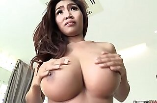 Glorious busty girl feels jets of warm sperm enter her tight cunt