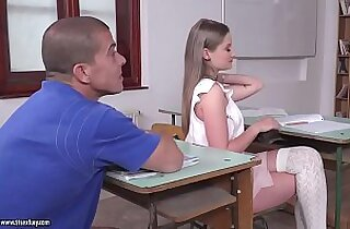 Tiffany Tatum goes wild in the classroom
