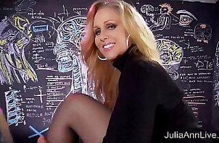 Sexy Milf Julia Ann Sweater Strip Tease Solo!