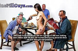 Old Dudes Have Fun With Hot Ginger Teen Cracker Dolly Little