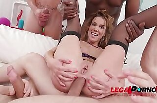 Alexis Crystal amazing DAP DP with four cocks