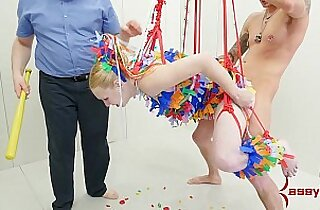 Anal pinata girl gets brutal punishment