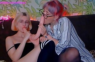 two russian babes teasing and having fun on webcam