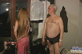 old grandpa sex blessed by Russian blonde
